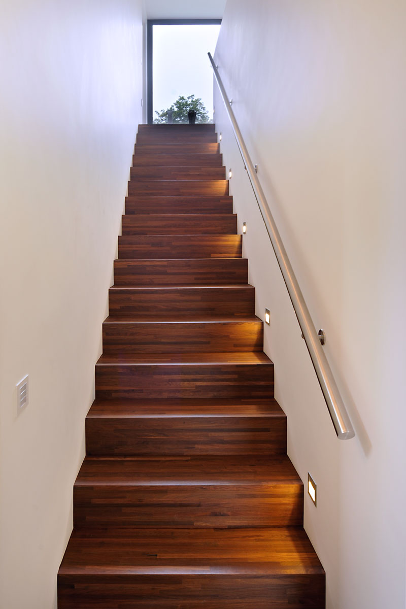 Houten trap, Tropic Parket Jan van Benthem, hout, modern landhuis, Maas Architecten