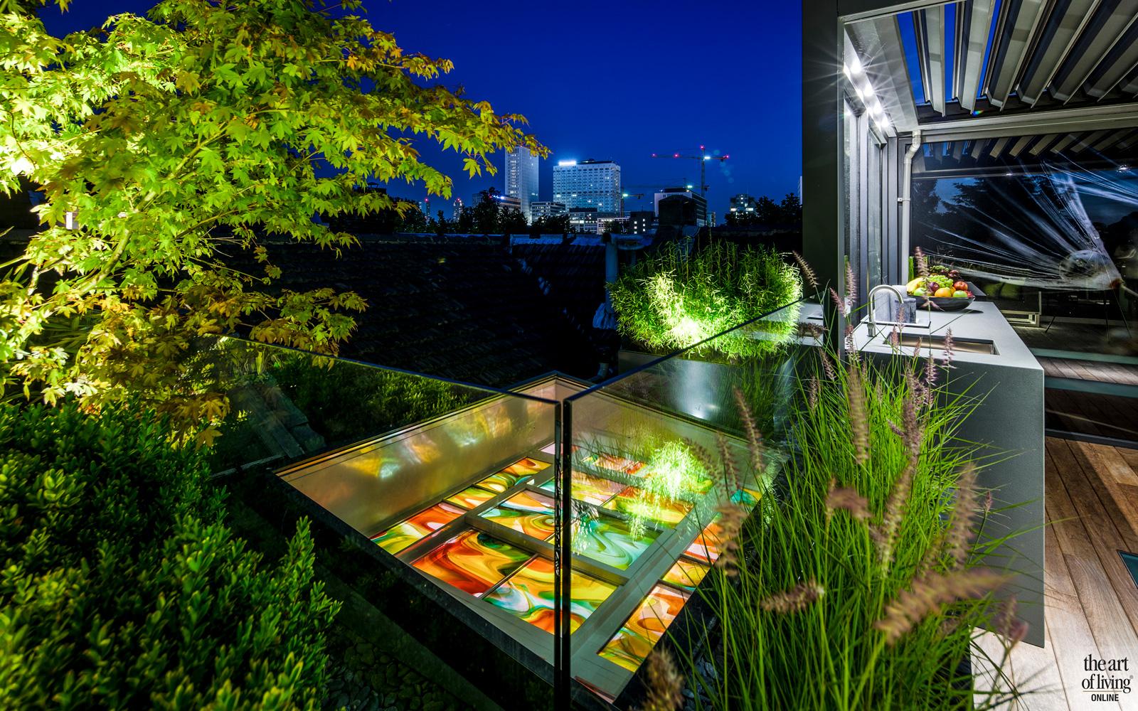 Modern dakterras, Erik van Gelder, glazen wanden, Van Dijken Glas beleving, houten vloer, Tablazz