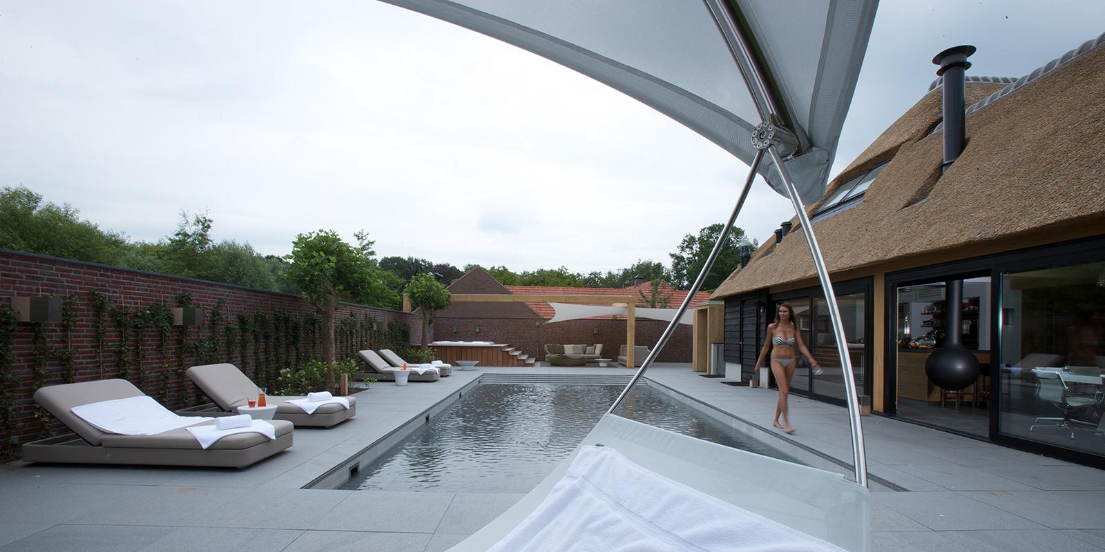 Compass Pools, zwembaden, sauna, wellness, buitenzwembad, luxe baden, the art of living