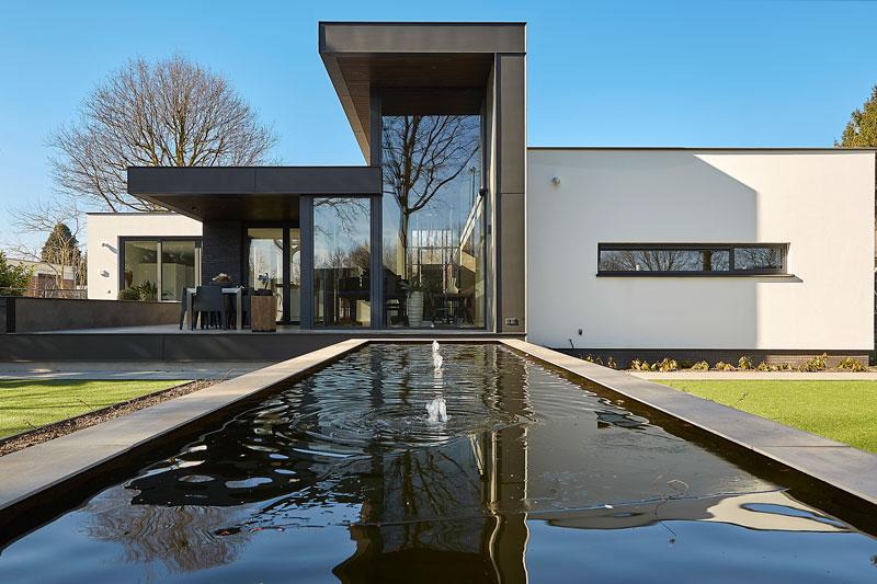 Leenders architecten, moderne villa, exclusieve villa, The Art of Living Online