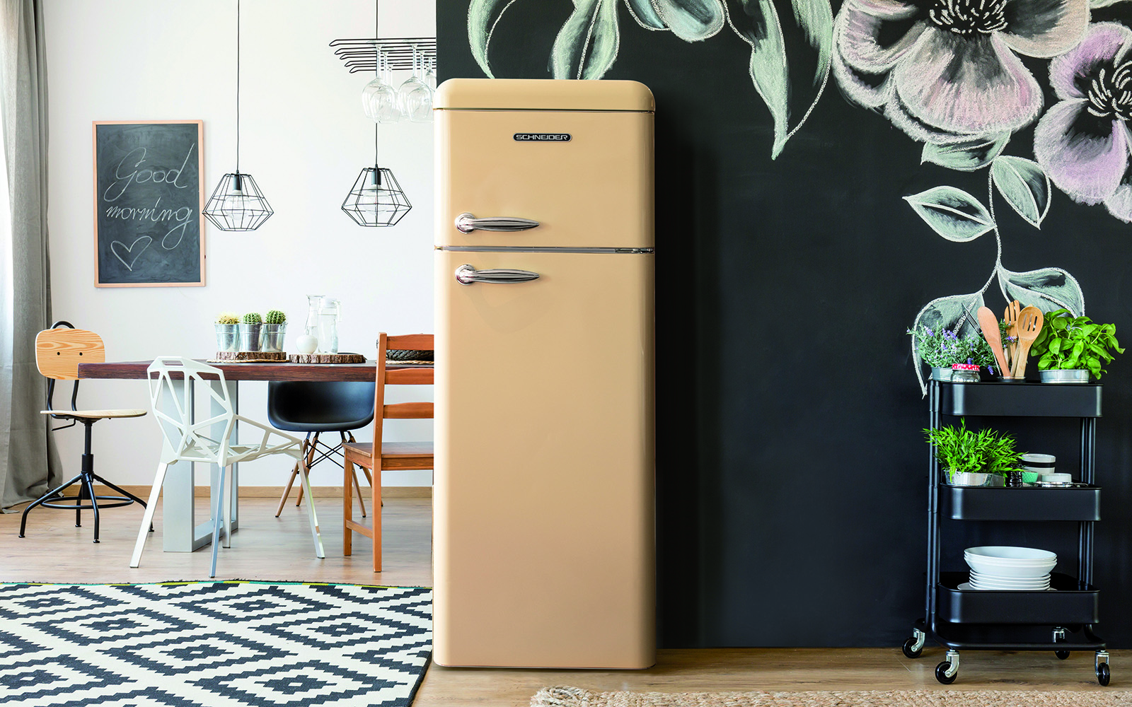 Retro Design Keuken : Schneider kleurrijke keuken the art of living be
