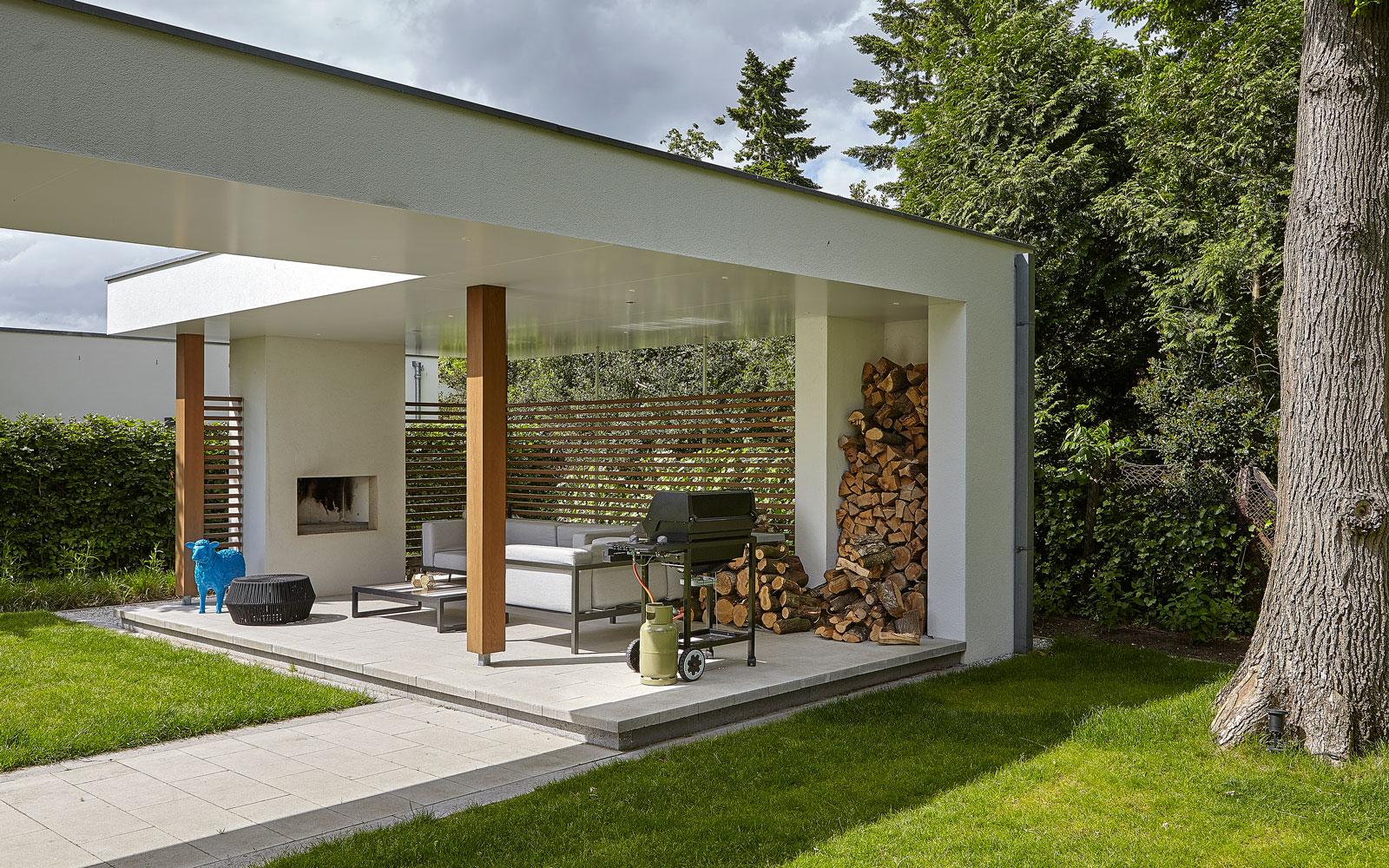 Tuin, tuinhuis, barbecue, haard, tijdloos, minimalistisch, Marco van Veldhuizen