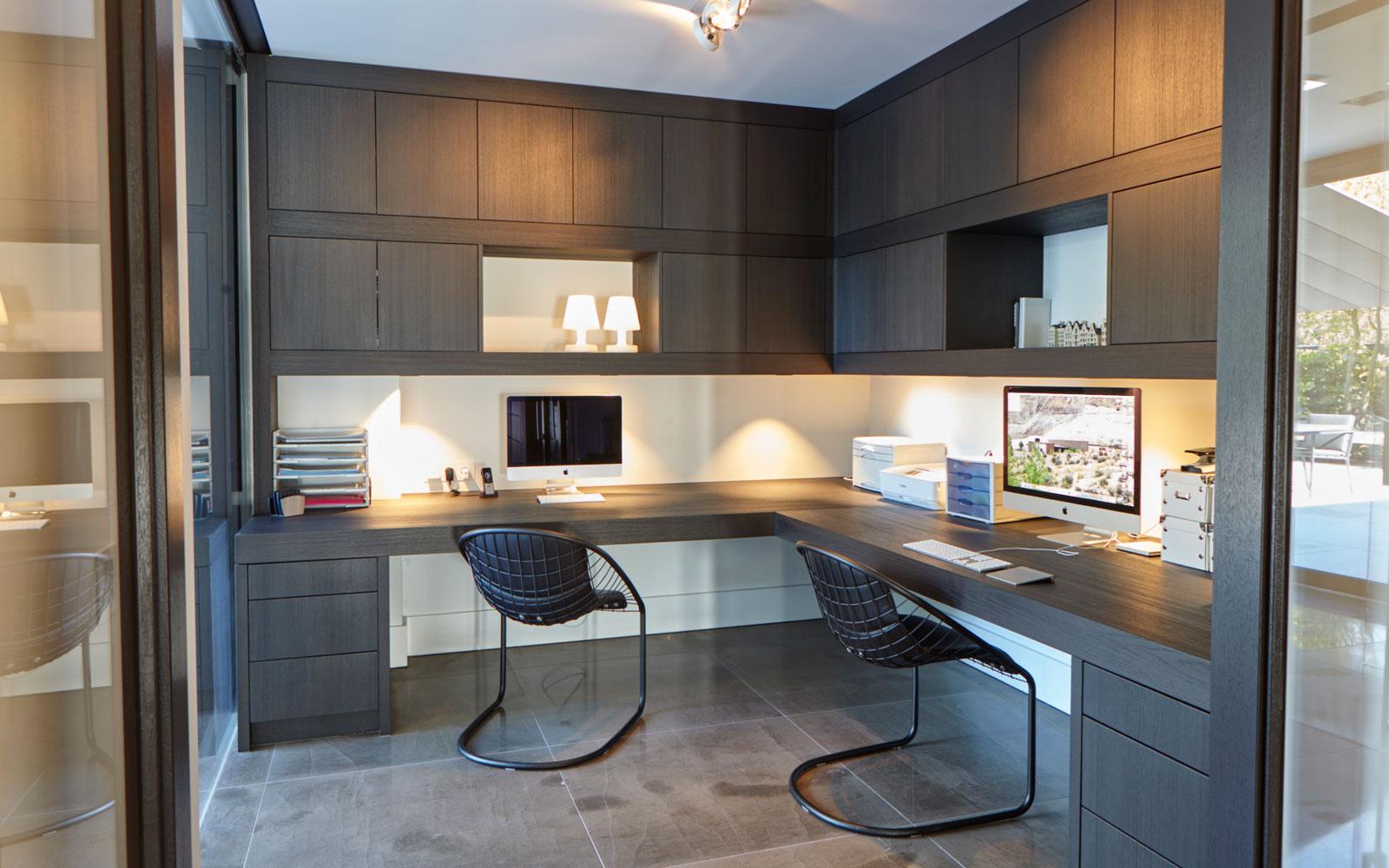 kantoor, werkplek, home office, ultramoderne villa, Bob Manders
