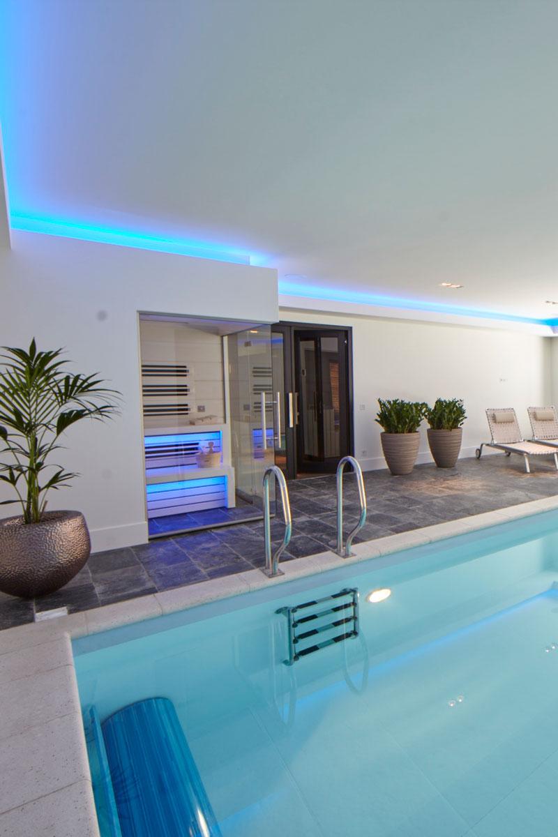 binnenzwembad, zwembad, sauna, wellness, VSB Wellness, ontspannen, ultramoderne villa, Bob Manders