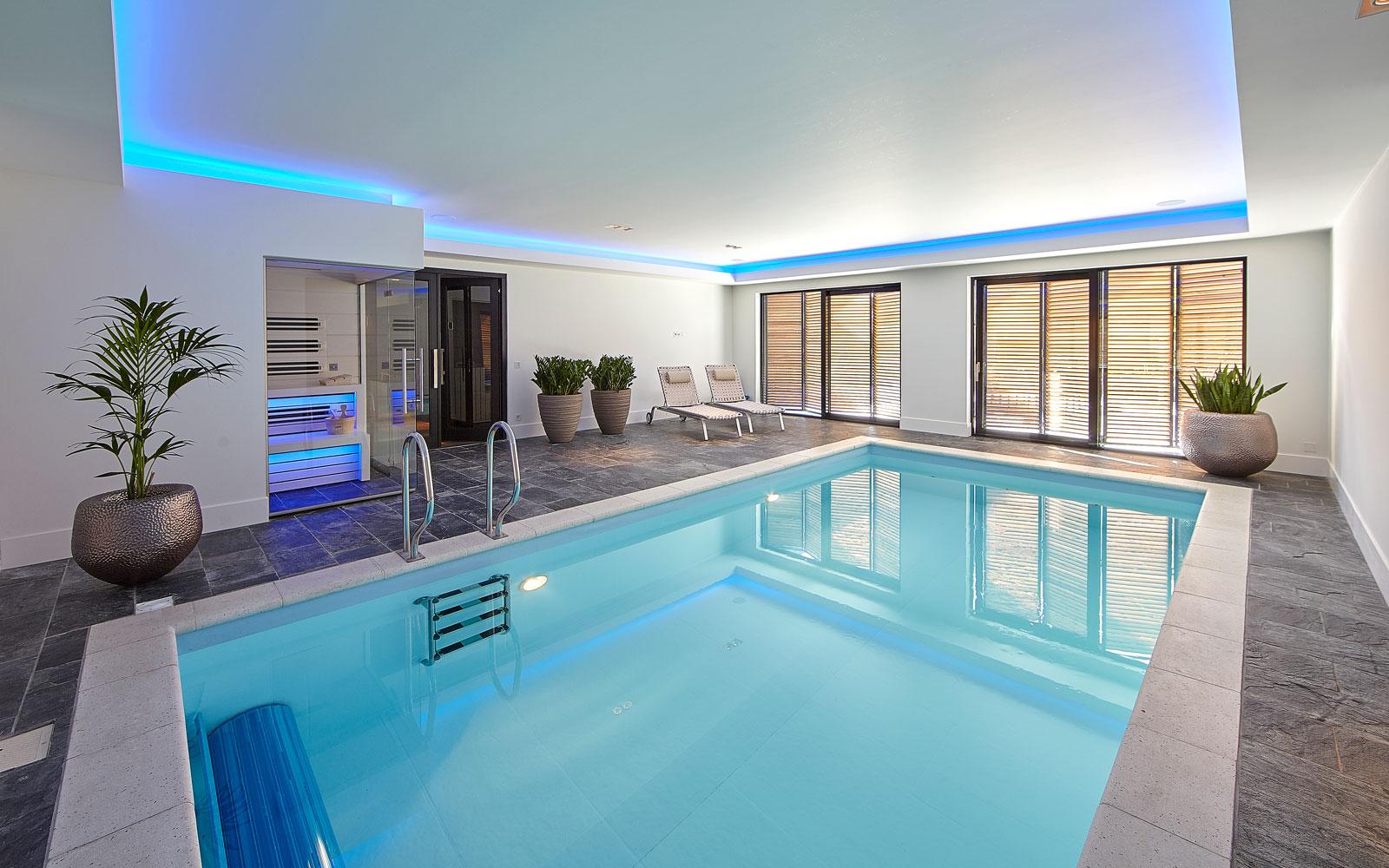 Binnenzwembad, zwembad, VSB Wellness, wellness, ultramoderne villa, Bob Manders