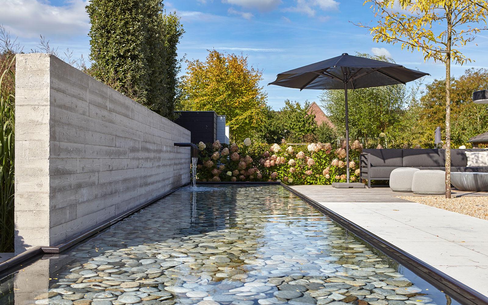 Tuin, natuuroase, Groenseizoen, tuinarchitect, vijver, Dirk van der Poel