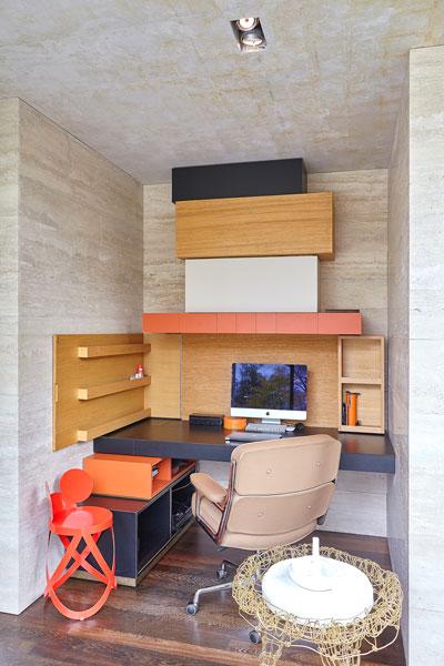 Kantoor, werkplek, studeerkamer, home office, vooroorlogse villa, De Bever Architecten