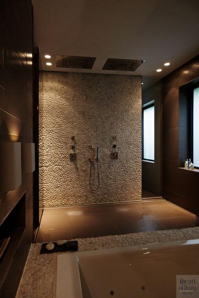 Badkamer, sanitair, inloopdouche, verschillende materialen, jacuzzi, wellness, extreme verbouwing, Osiris Hertman