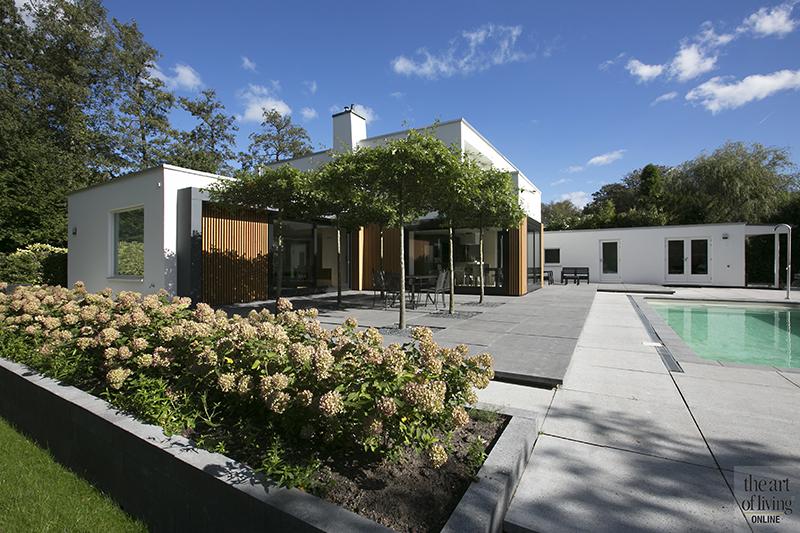 Exterieur, villa, eigentijds, hout, zwembad, terras, tuin, Marco van Zal, jos bouwhuis, tuinontwerp, the art of living
