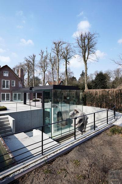 Tuin, Buro Buiten, water, glas, oud ontmoet nieuw, VVR Architecten