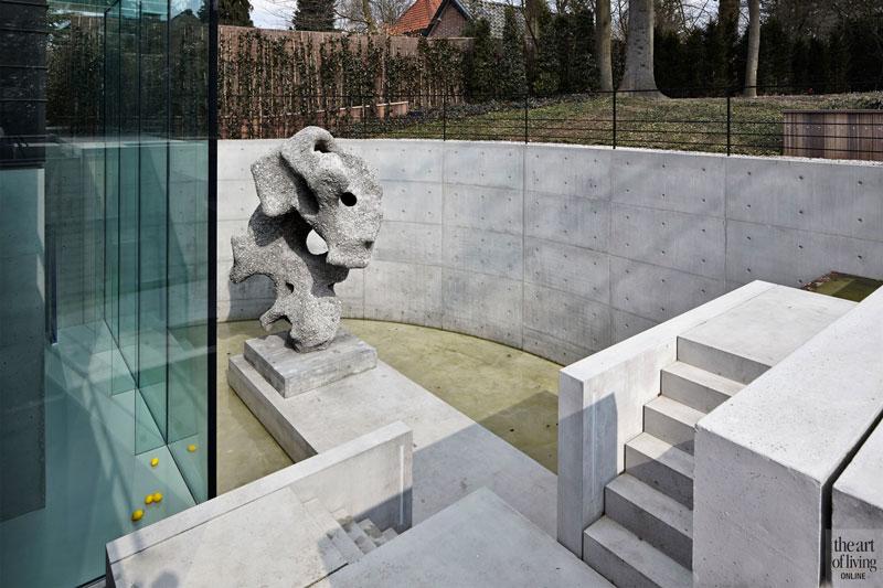 Kunstwerk, tuin, Buro Buiten, grote ramen, glas, Alvisto, oud ontmoet nieuw, VVR Architecten