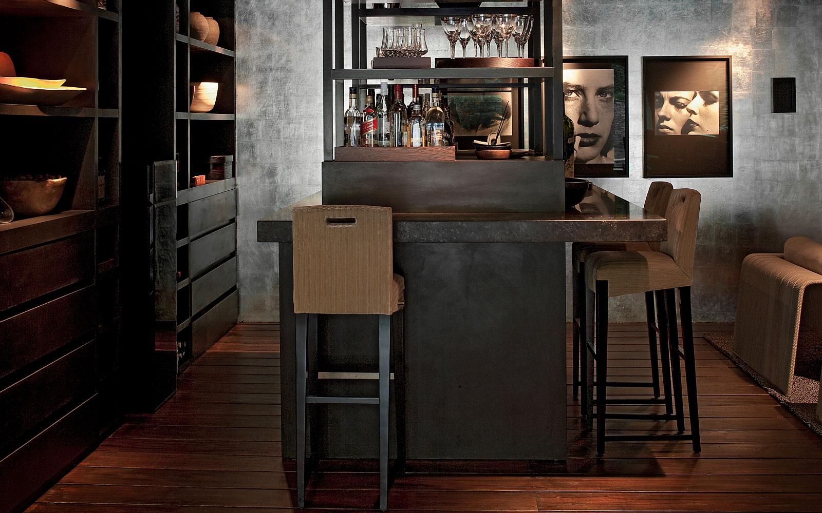 Wellness, souterrain, bar, barkruk, lounge, luxe, riante villa, Leeflang Architectuur