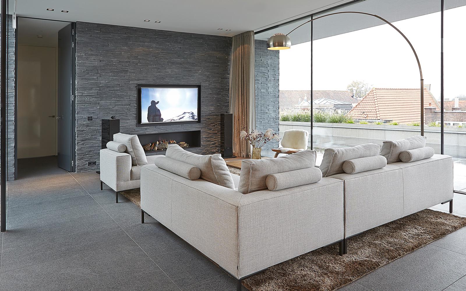Woonkamer, living, interieur, maatwerk, modern, klassiek, hoogwaardige materialen, Powerhouse Company