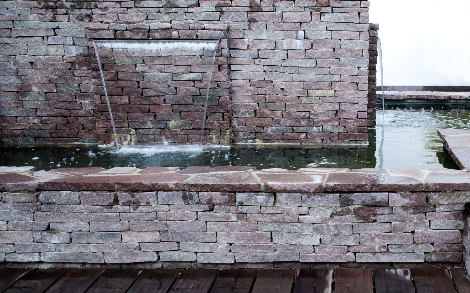 Tuin, mediterraans, stenen muur, Poortvliet en Partners, Ginkel Groep, waterval, riante villa, Leeflang Architectuur