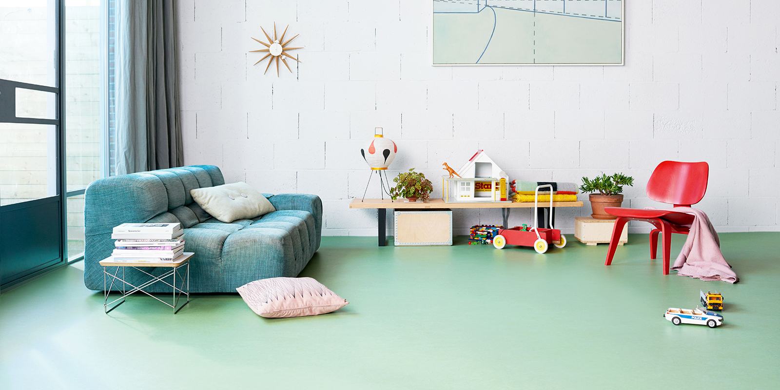 Forbo Flooring, Marmoleum Energize, Love Life