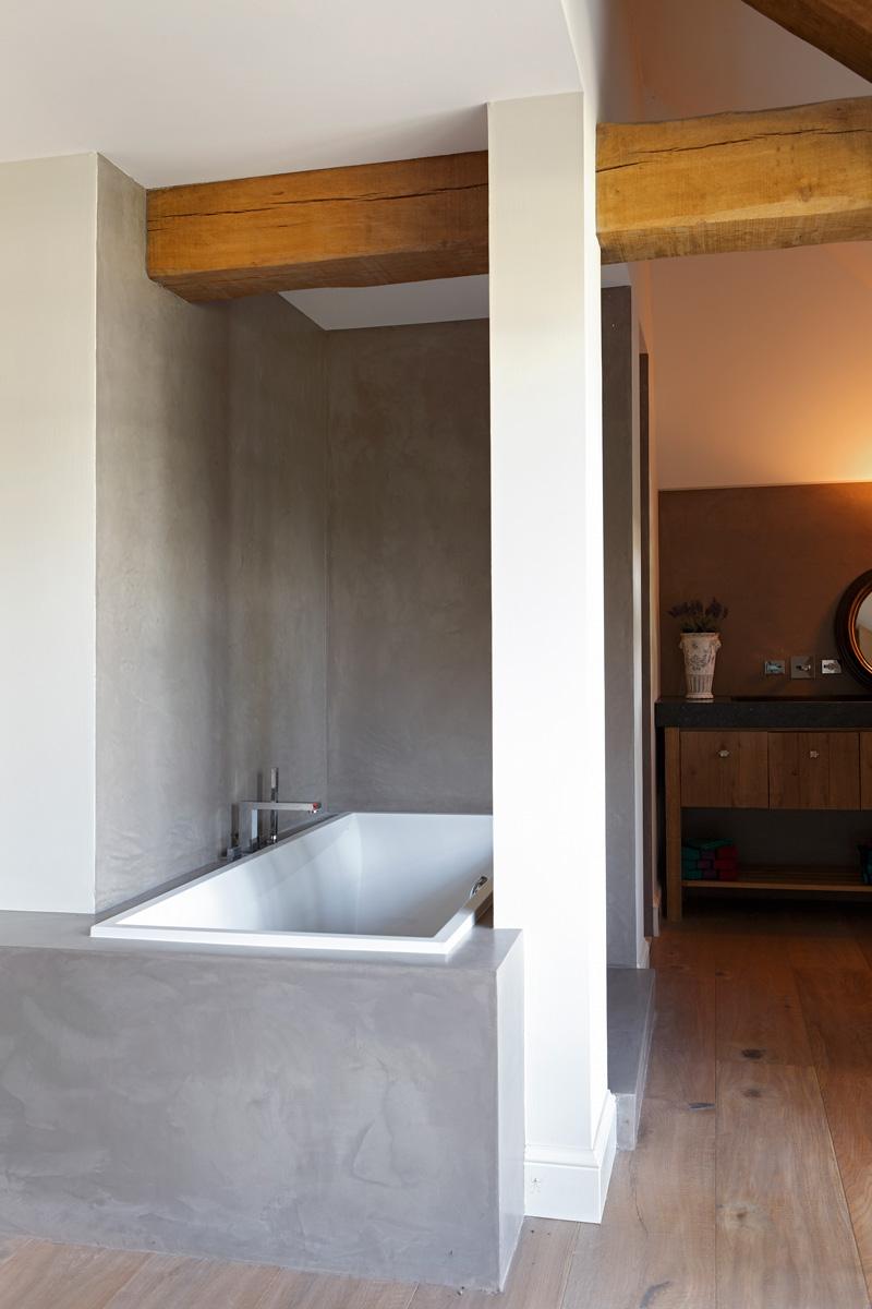 Bad, sanitair, badkamer, verbouwing woonboerderij, Marco Daverveld