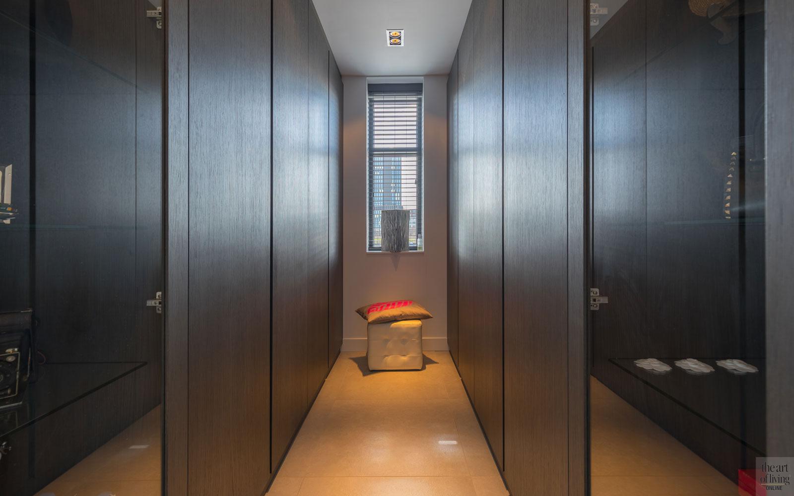 Inloopkast, walk-in closet, kabaz, C. van der Grift, Strakke tweekapper