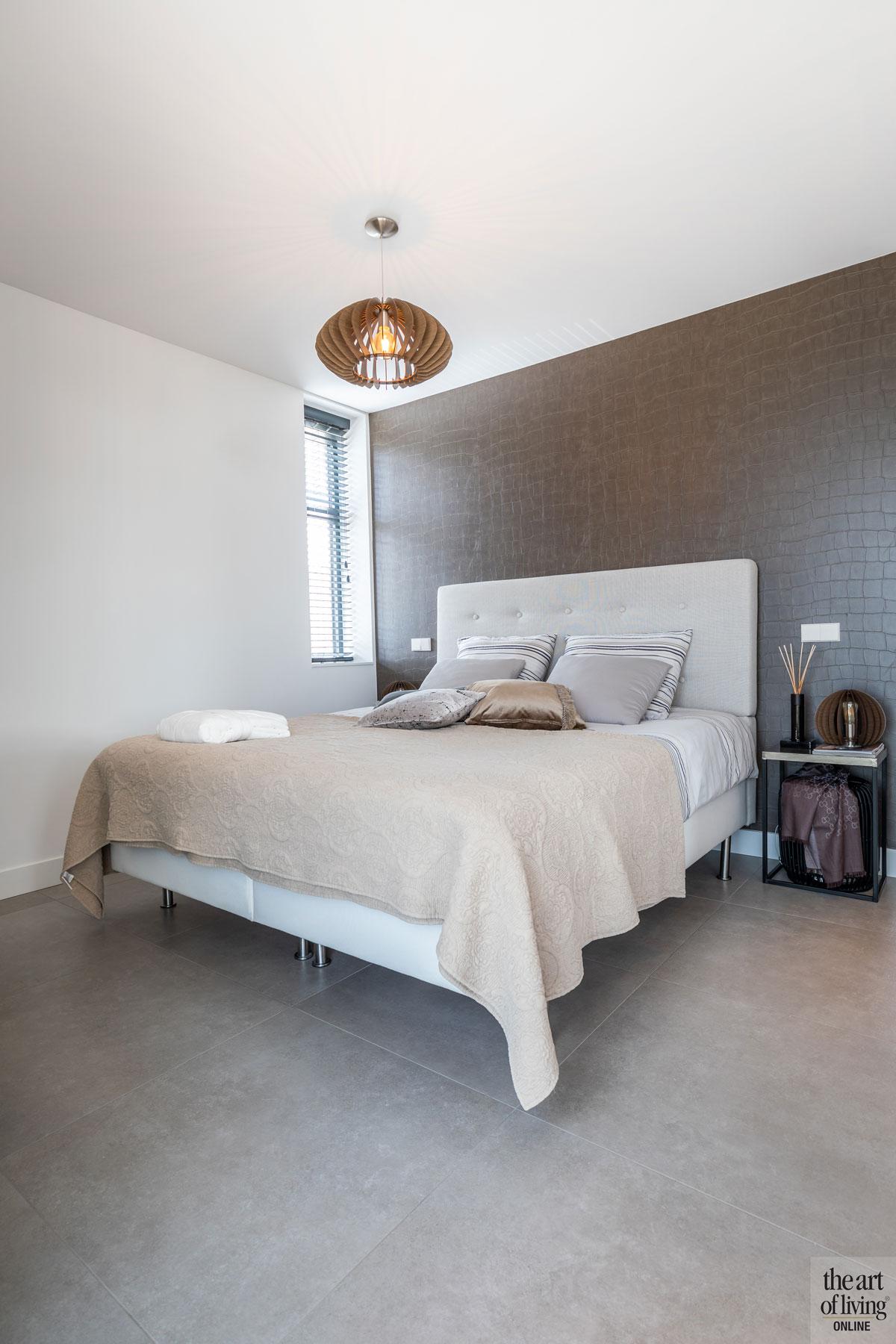Slaapkamer, master bedroom, bed, strakke tweekapper, Kabaz, C. van der Grift