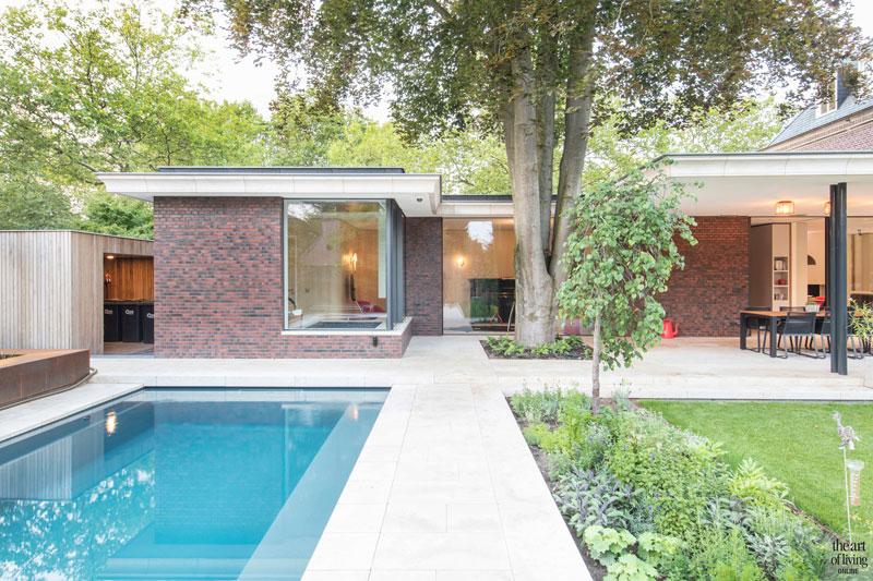 Tuin, PUUR groenprojecten, Hoveniersbedrijf Kolsters, Zwembad, NieuwAtlantis, modern en eigentijds, de Bever Architecten