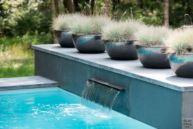 Zwembad, infinity pool, Elzen Zwembaden, planten, boomkwekerij Ebben, wellnesstuin, Studio REDD