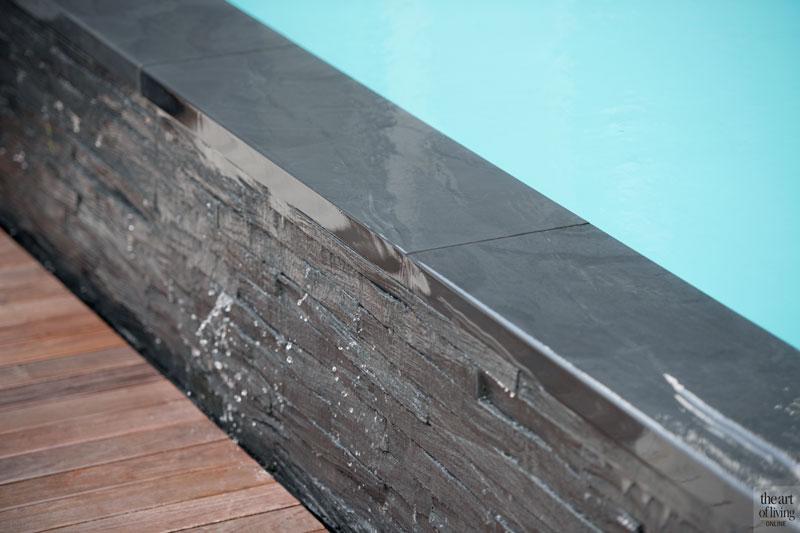 Zwembad, infinity pool, Elzen Zwembaden, houten vloer, Tablazz, wellnesstuin, Studio Redd