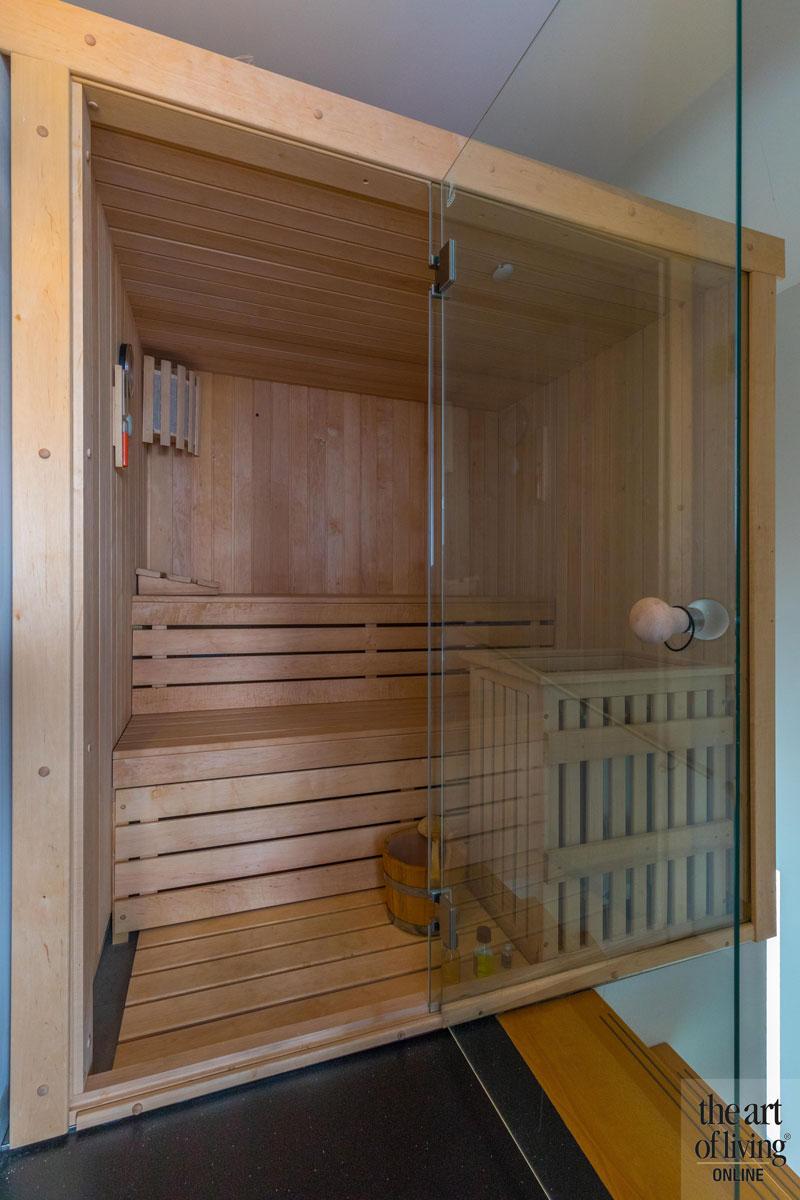 Sauna, wellness, ontspannen, duurzame villa, De Vries & theunissen