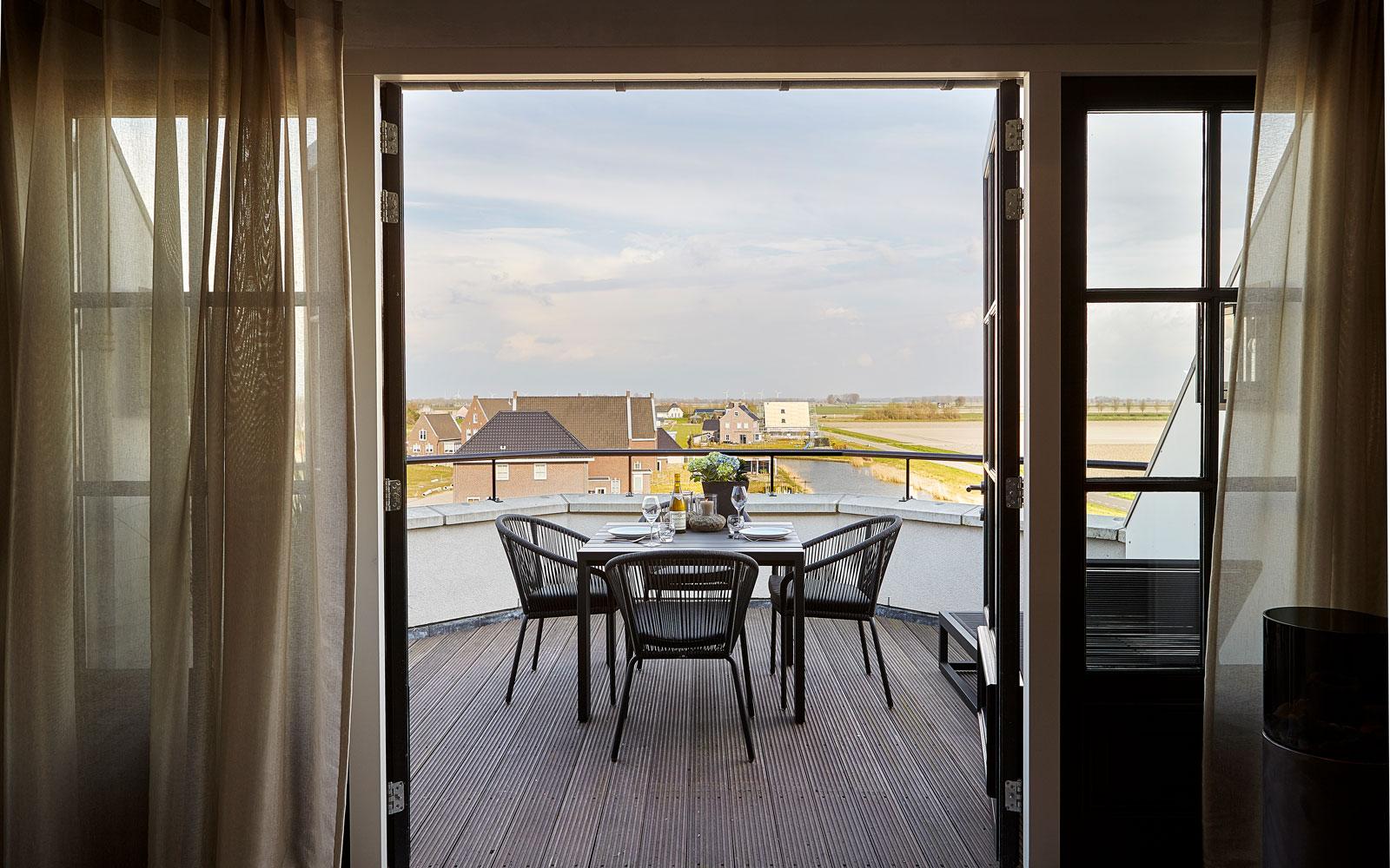 Dakterras, tuinmeubelen, Borek, uitzicht, buitenkeuken, penthouse, Eric Kant