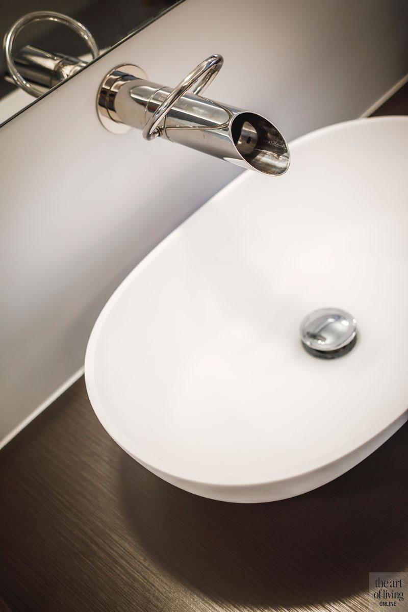Badkamer, wastafel, sanitair, landelijke nieuwbouw, Kabaz