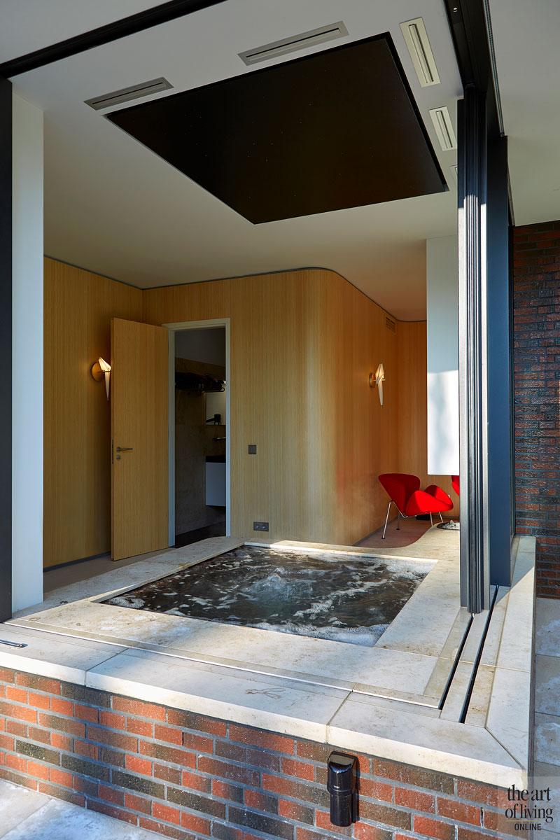 Wellnessruimte, wellness, jacuzzi, NieuwAtlantis, ontspannen, modern en eigentijds, De Bever Architecten