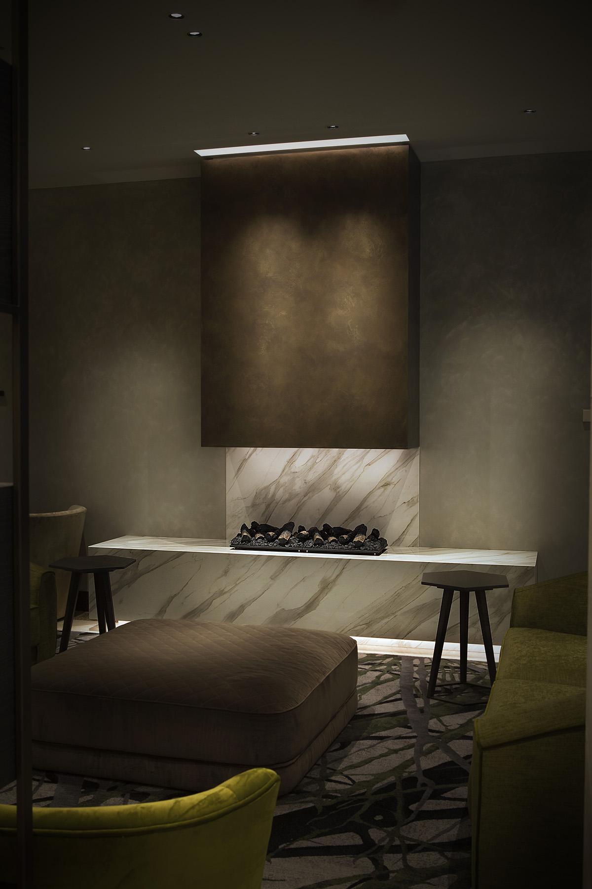 Neolith, binnenkijken bij Hilton Hotel Milaan, Natuursteen, Carrara marmer