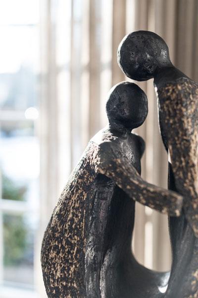 Woonkamer, kunst, beeld, Metamorfose interieur | MarStyling | Van Oort Interieurs