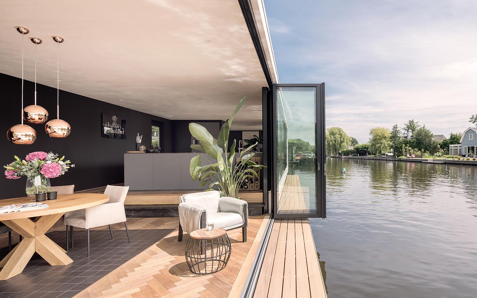 Solarlux, open vouwwanden, boothuis