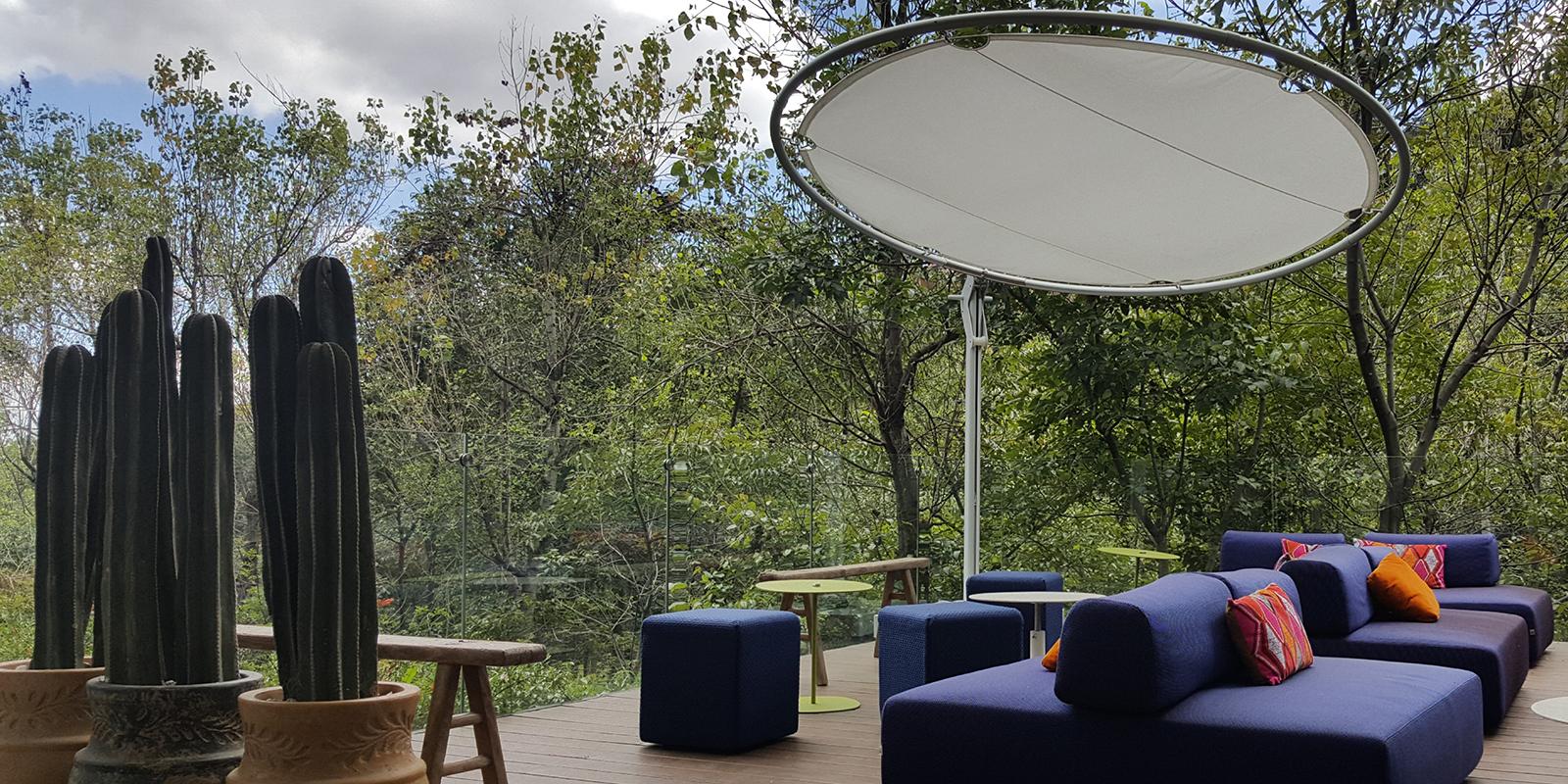 Umbrosa, schaduwparasollen, parasol, internationaal, Belgisch, Design