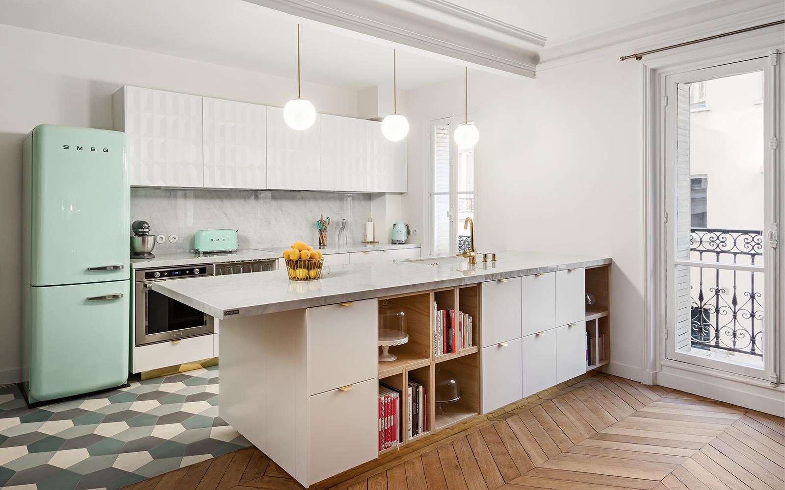 Kitchen worktop Neolith Blanco Carrara, natuursteen, marmer