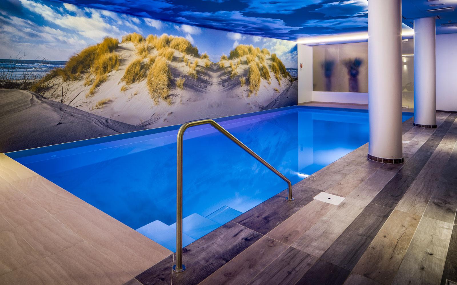 Wellness, badhotel Domburg, sauna, zwembad, douche, Stephen Versteegh, Versteegh Design