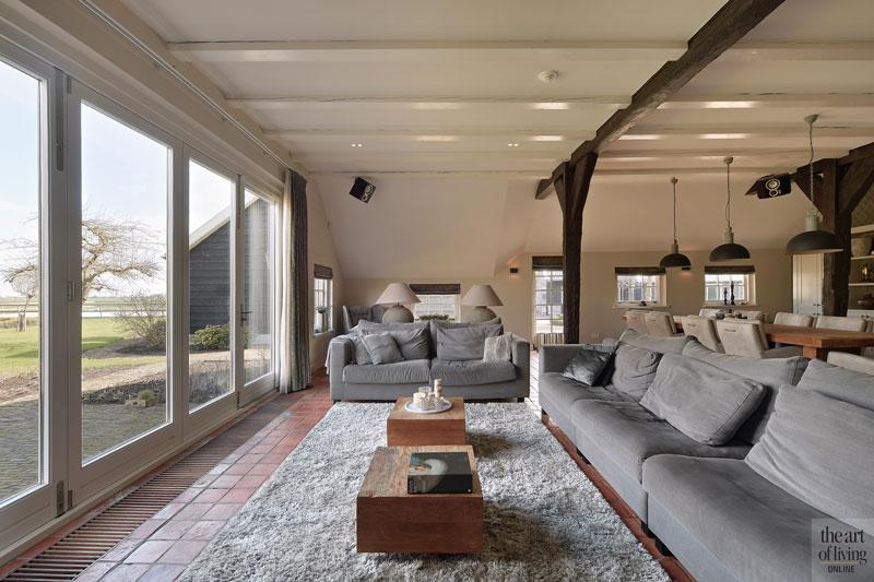 Woonkamer, living, zithoek, Sfeervol Wonen, maatwerk, meubelen, landelijk, modern, Hemels Wonen