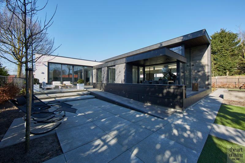 Tuin, Hoveniersbedrijf R&R, tuinontwerp, tuinmeubelen, moderne bungalow, Leenders Architecten en Ingenieurs