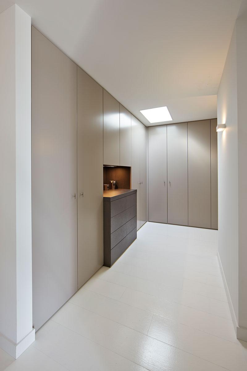 Inloopkast, walk-in closet, maatwerk, kasten, strak, penthouse, Marco Daverveld