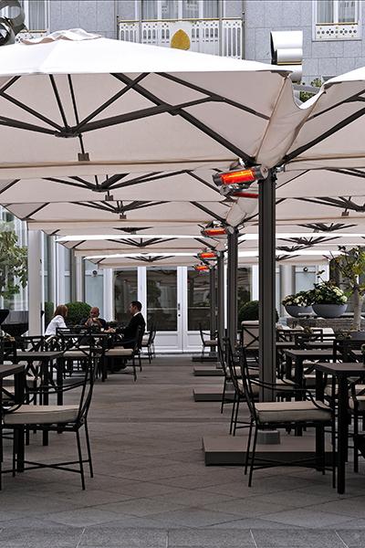Solero Parasols, Steigenberger Hotel Brussel
