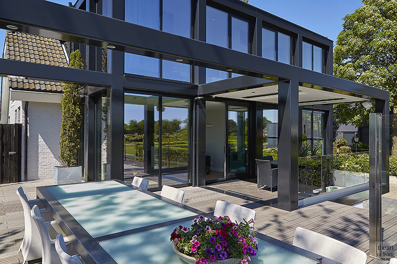 Verbouwing, Van der Linde Architecten, Zwembad, Modern, Strak, Eettafel, Veranda
