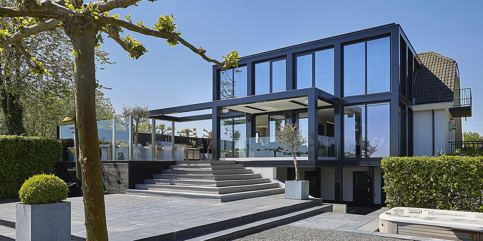 Verbouwing, Van der Linde Architecten, Zwembad, Modern, Strak, Eettafel, Veranda, architectenbureau, architect, nigel van der linde, the art of living