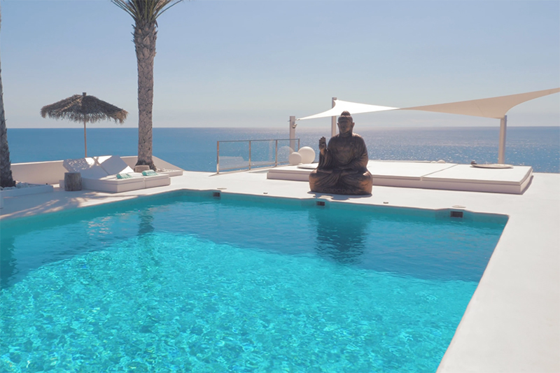 Ibiza villa, Yolanthe en Wesley Sneijder, Ibiza, Te huur, Villa, Luxe, High-end, Ibiza stijl, Zwembad, Pool