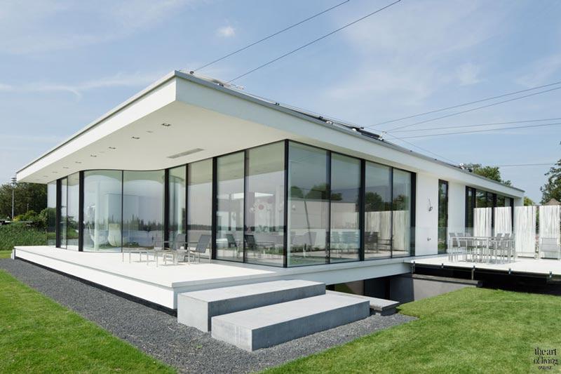 strak design, villa aan het water, modern, exclusief woning, moderne villa, Exclusieve villa, Lab32 Architecten, the art of living