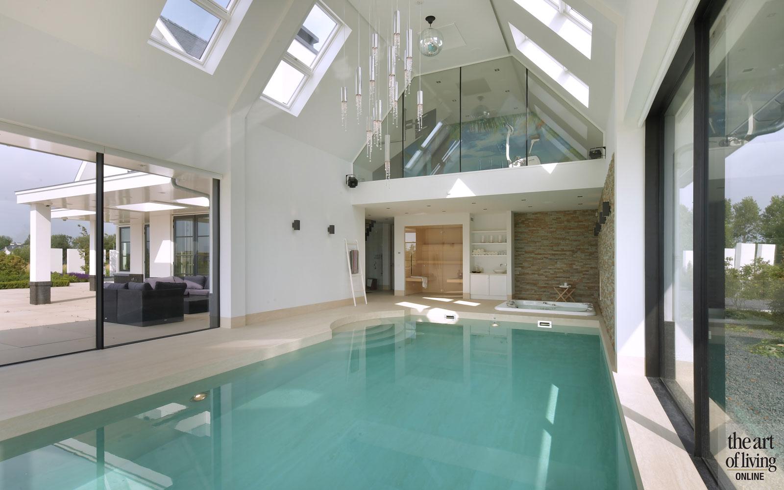 Wellness, zwembad, sauna, bad, jacuzzi, whirlpool, Klassieke Villa aan het water, van Egmond Totaalarchitectuur, The Art of Living