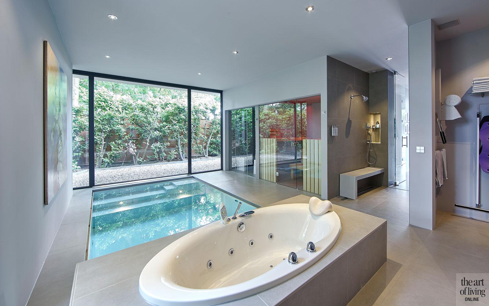 Zwembad, kranen, whirlpool, bad, jacuzzi, Moderne villa, Boley, The Art of Living