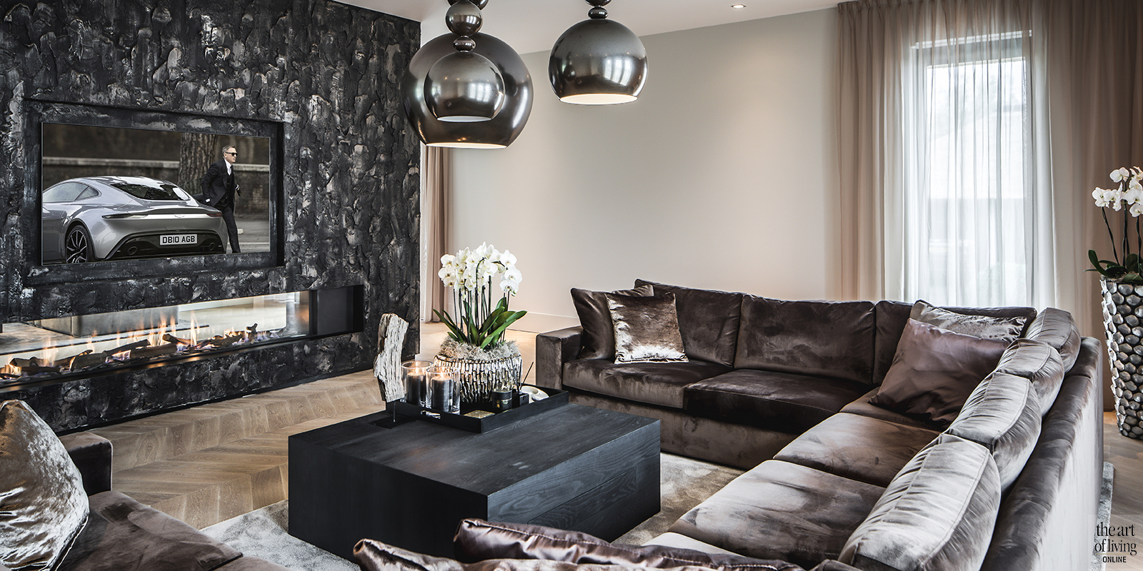 Luxe woonkamer inrichten cindy philips the art of living nl for Interieur luxe