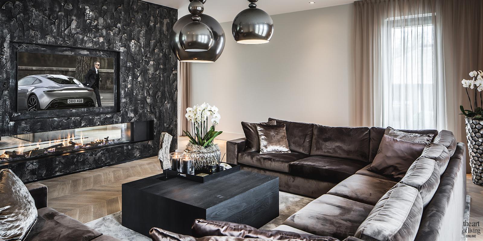 Cindy Philips, the art of living, designmeubelen, interieur, luxe woonkamer, exclusieve muren