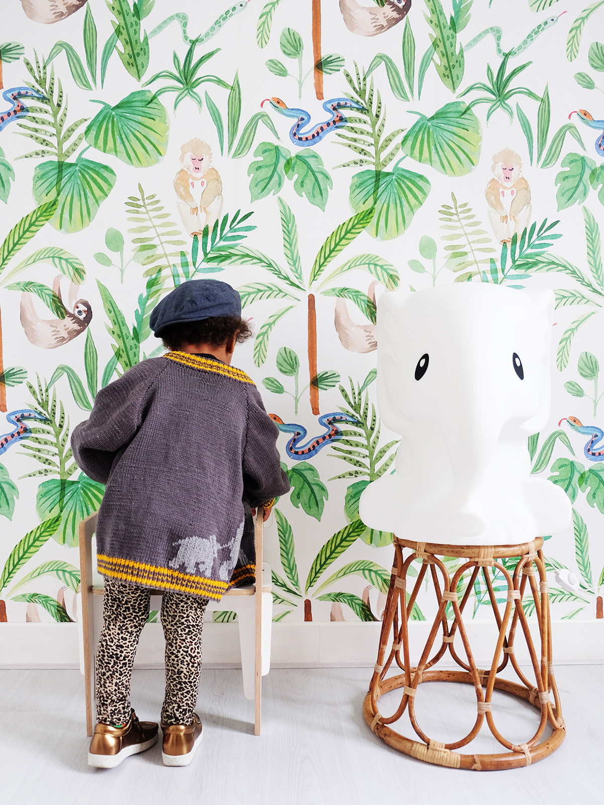 Creative Lab Amsterdam, Behang, Leather look, Jungle Fever, Vliesbehang, Botanisch, Exotisch