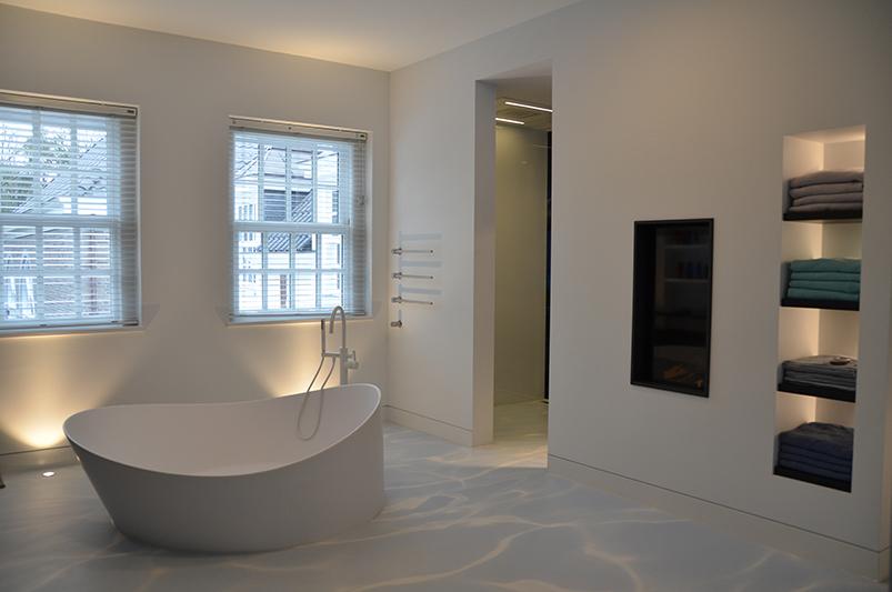 Gietvloer, badkamer, DRT Gietvloeren
