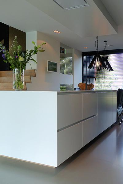 Keuken, Strak, Modern, Gietvloer, Trap, Keuken, Kookeiland